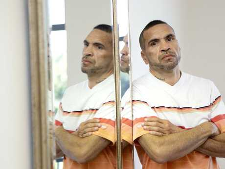 Former professional boxer Anthony Mundine, who has posted anti-vaccination messages on social media. Picture: Sarah Marshall, AAP