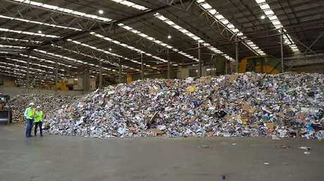 Tonnes of our recycling is sitting in Aussie warehouses or being shipped to Southeast Asia. Picture: 60 Minutes