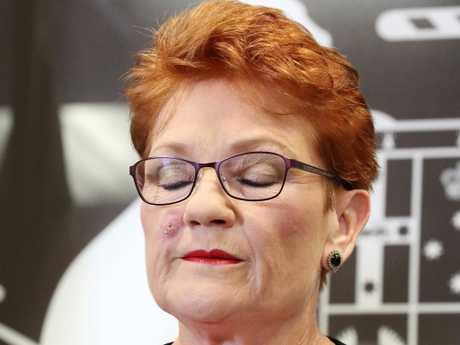 Senator Pauline Hanson's One Nation has fallen in popularity giving a boost to the Coalition and Labor in the latest Newspoll. Photographer: Liam Kidston