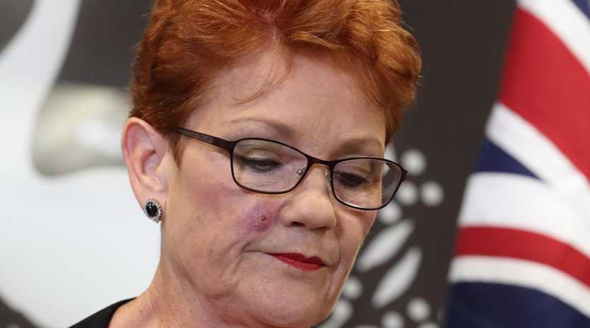 Pauline Hanson's One nation has suffered a major drop putting the Coalition and Labor neck to neck. Picture: Liam Kidston