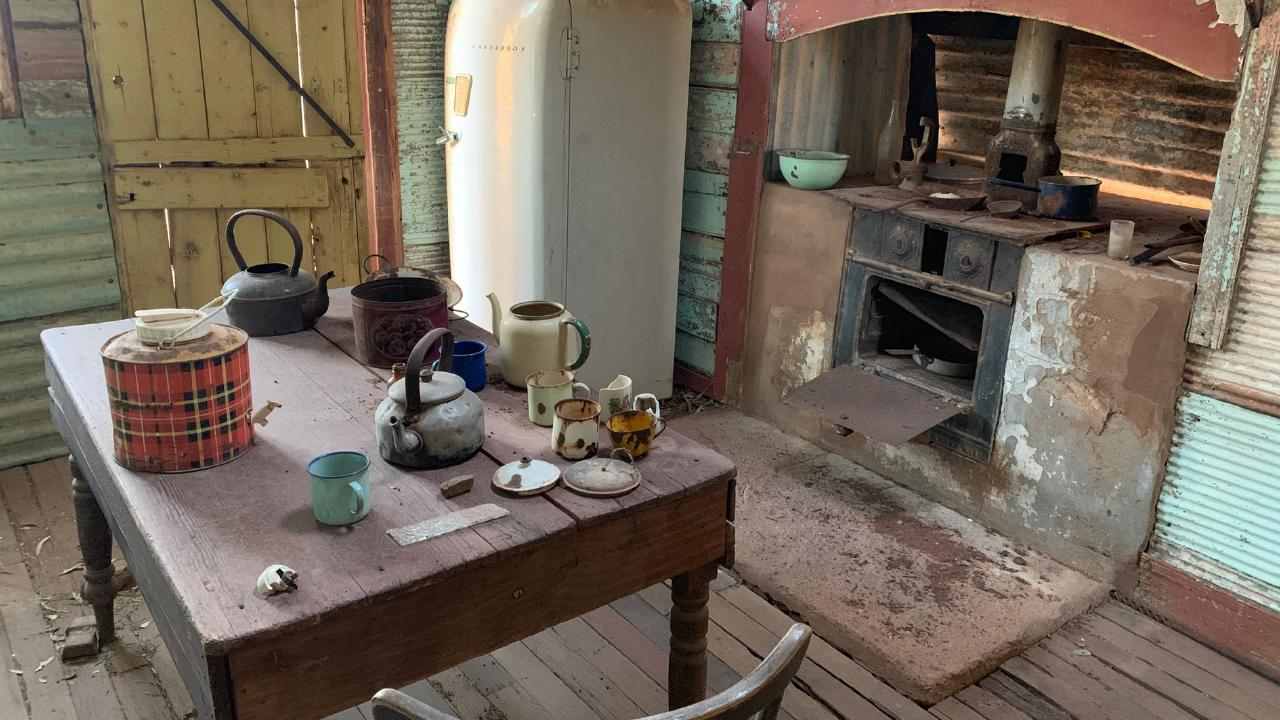 The eerie relics of Western Australian ghost town Gwalia remain in former miners' cottages.