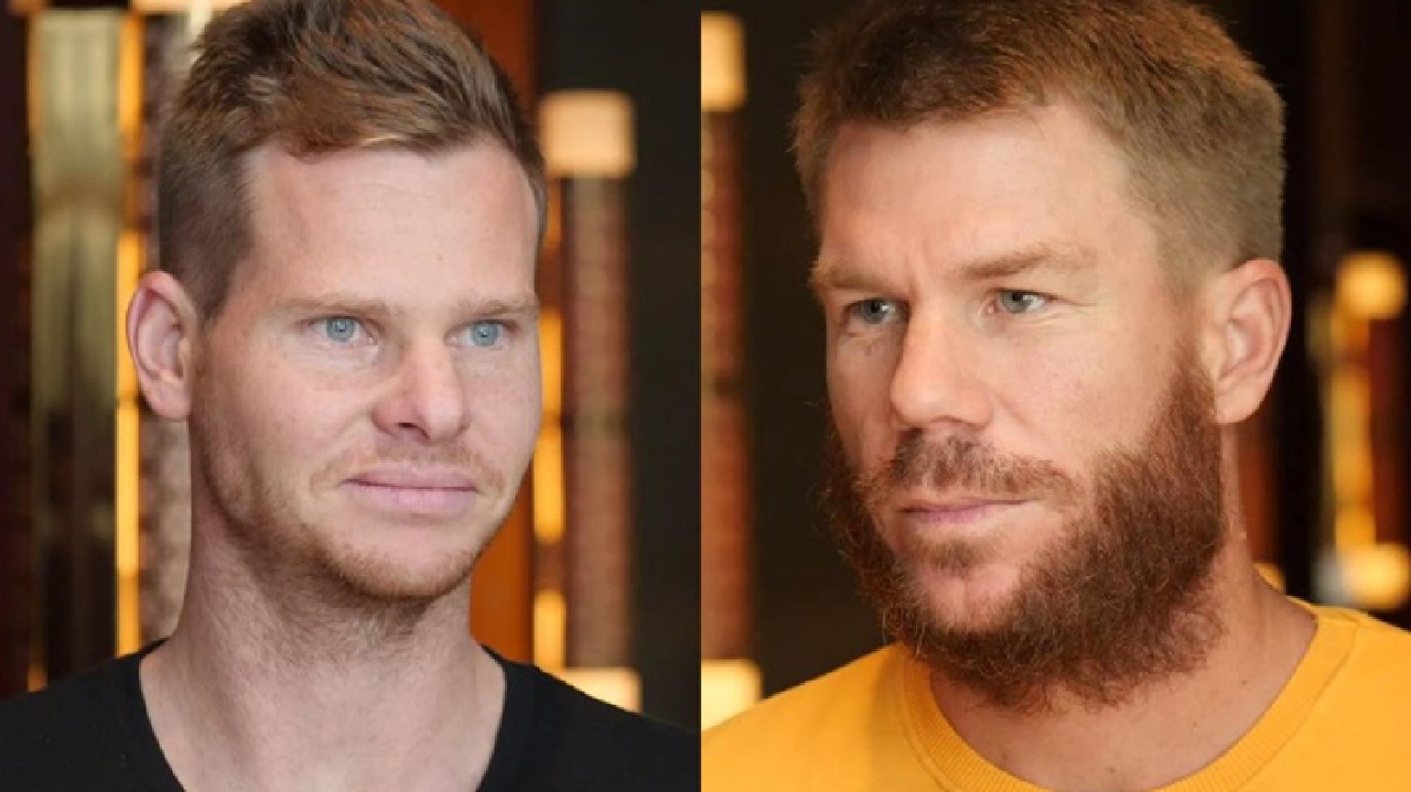 Steve Smith and David Warner after meeting with Australian teammates in Dubai