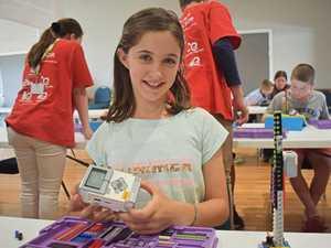 Eva Palmer at the Young Engineers holiday workshop at