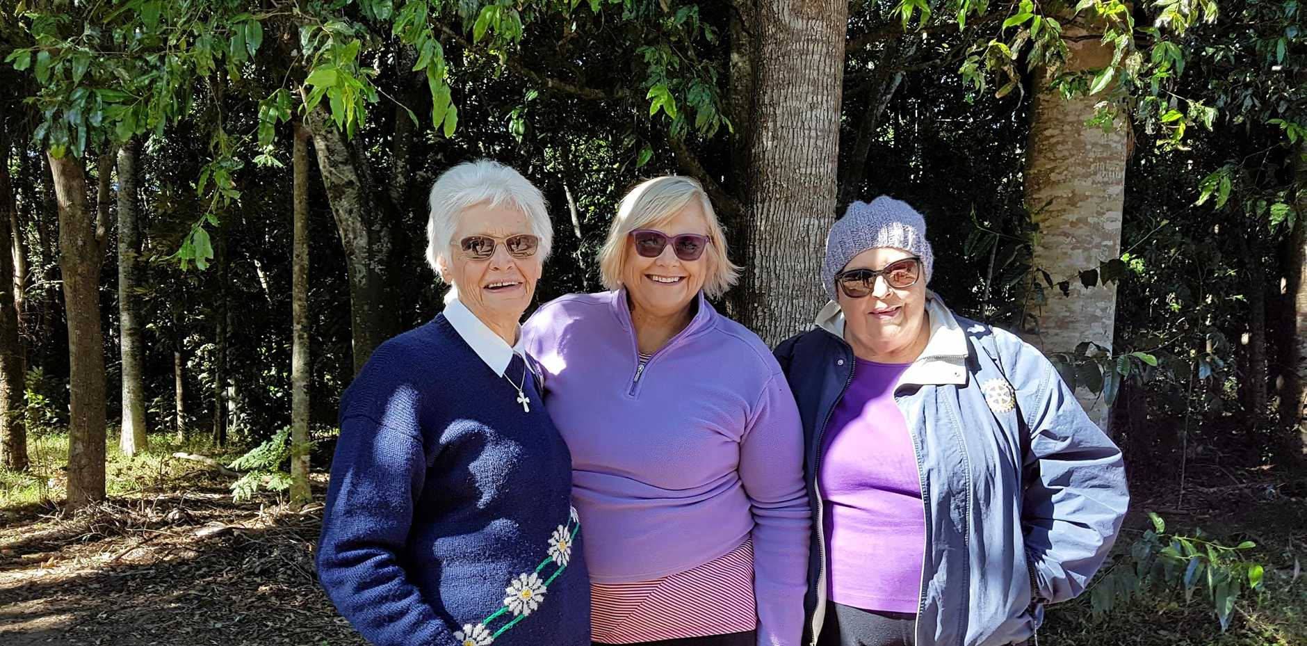 COMMUNITY GIVERS: Rotary club president Nerida Dean (centre), her mother Merle, left, and former club secretary the late Sue Curtis who passed away last month.