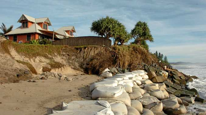 FLIGHT OR FIGHT: Erosion at Byron Bay's Belongil Beach from 2011, may hold lessons for Noosa.