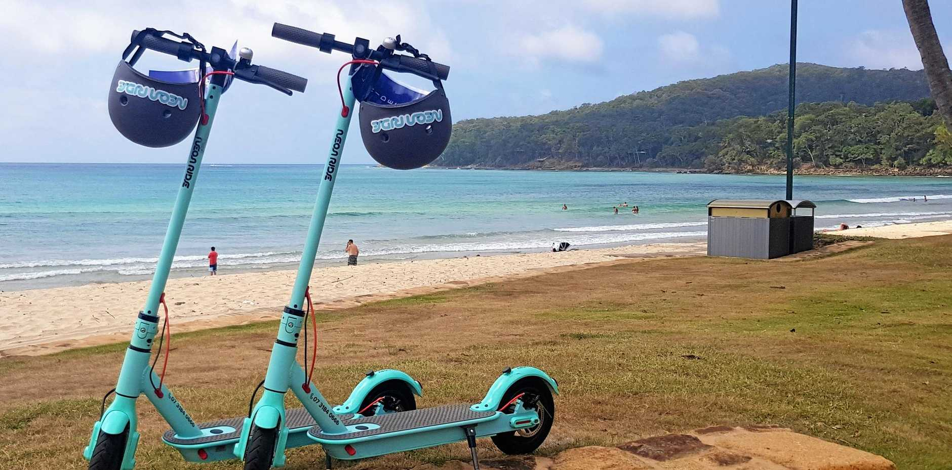 BRAKES ON: Neon Ride may be refused a three-month Noosa trial.