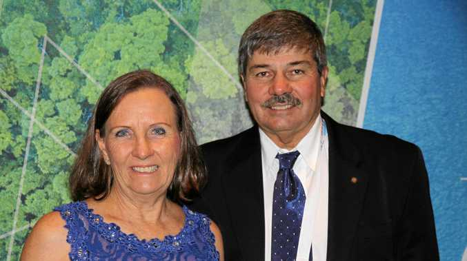 NATIONAL RECOGNITION: Carol and Ian Single, of Single Transport Solutions. The family business was a runner-up for the John Kelly Memorial Award at the 2019 National Trucking Industry Awards.
