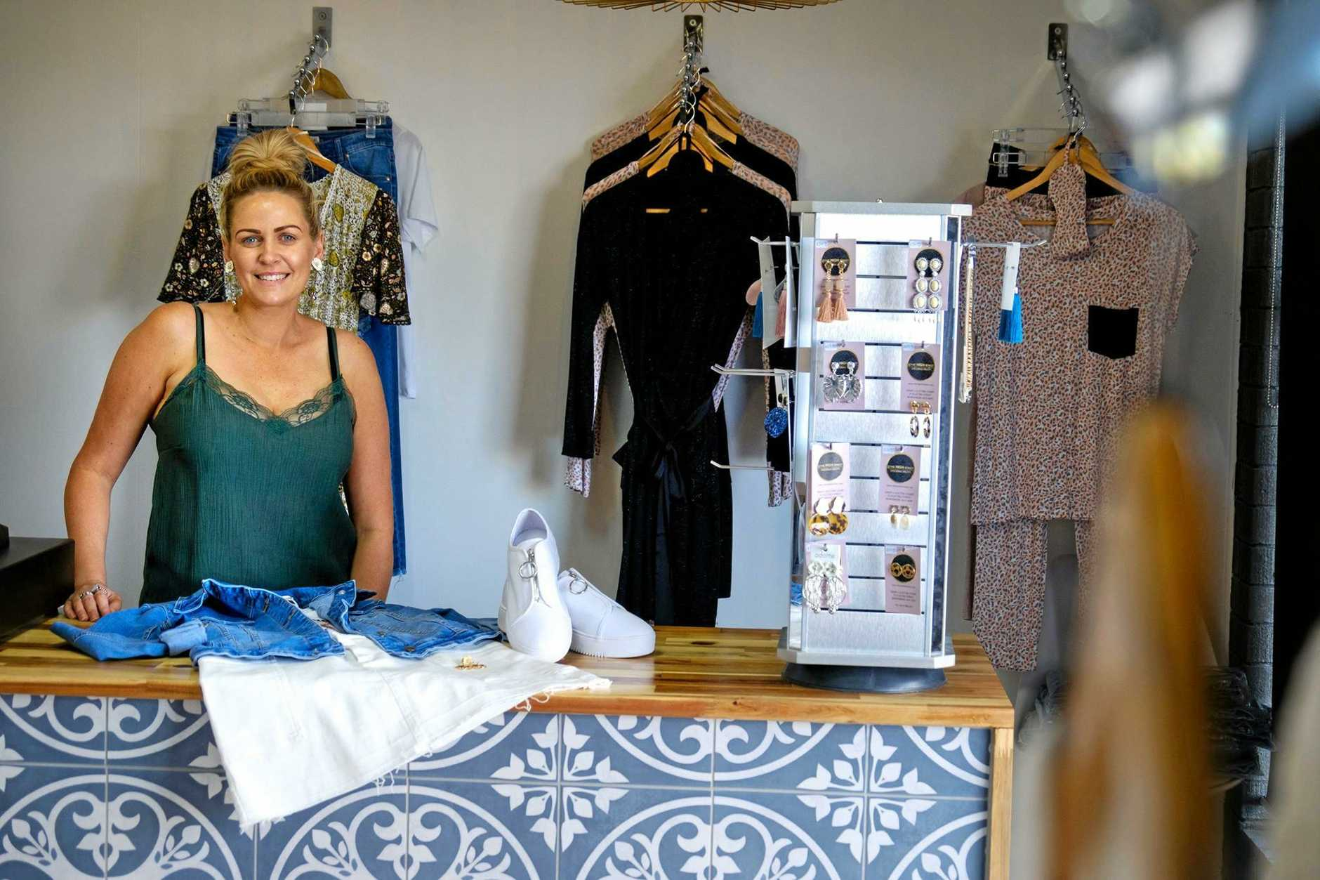 FASHION BARGAINS: The High Street Dressing Room owner Bree Kaufusi has capped her stock to $59.