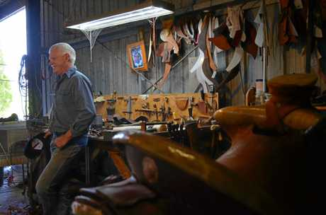Tony Gifford in his workshop.