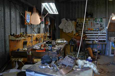 Tony Gifford's workshop is a hive of activity and cobwebs, but he wouldn't have it any other way.