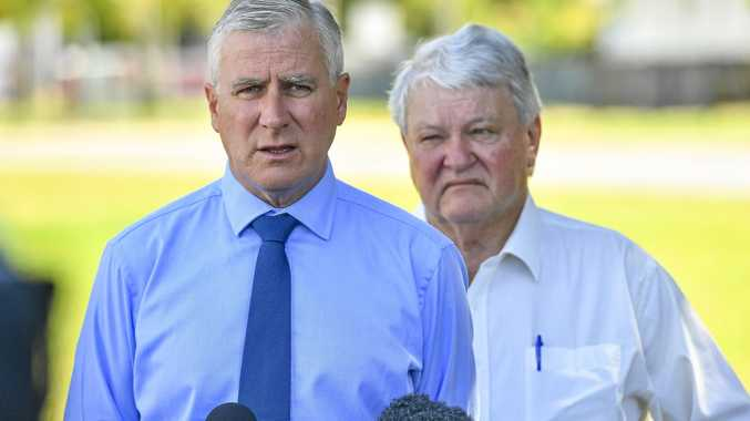 GRIM PICTURE: Deputy Prime Minister Michael McCormack with Member for Flynn Ken O'Dowd spoke to    The Observer  about how  election issues  may affect the  region .