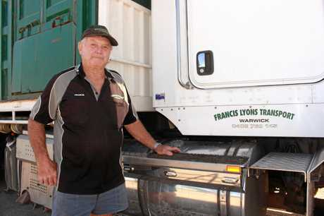 Warwick driver Francis Lyons has been in the livestock transport game for years.