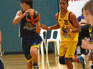 Action from bronze medal match between Gladstone and SWM Pirates