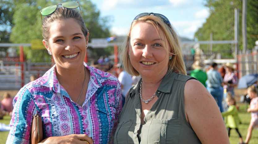 Kelly O'Farrell and Christina Shutt at the 2019 Gayndah Show.