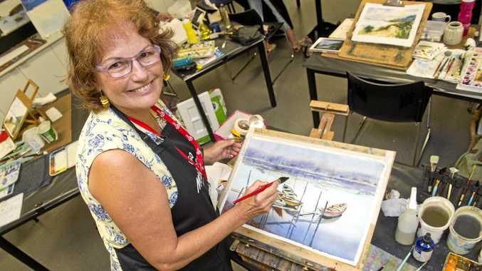 CREATIVE: Mundubbera artist Sue Lederhose will be giving after-school lessons in Gayndah, subsidised by a RADF grant.