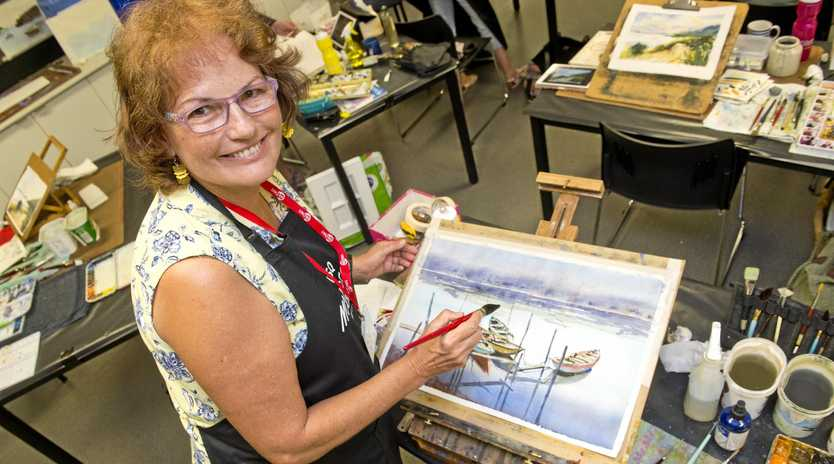 CREATIVE: Mundubbera artist Sue Lederhose will be giving after-school lessons in Gayndah, subsidised by a RADF grant.
