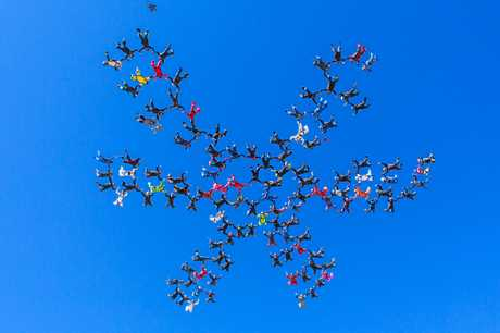 The Australian record of 119 jumpers at once, in 2015.