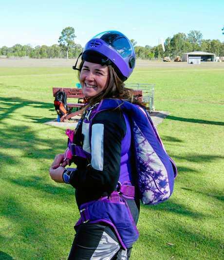 Kristina Hicks loves to skydive.