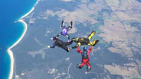 Former Coast school teacher Kristina Hicks traded the classroom for free fall, and will take part in an Australian record.