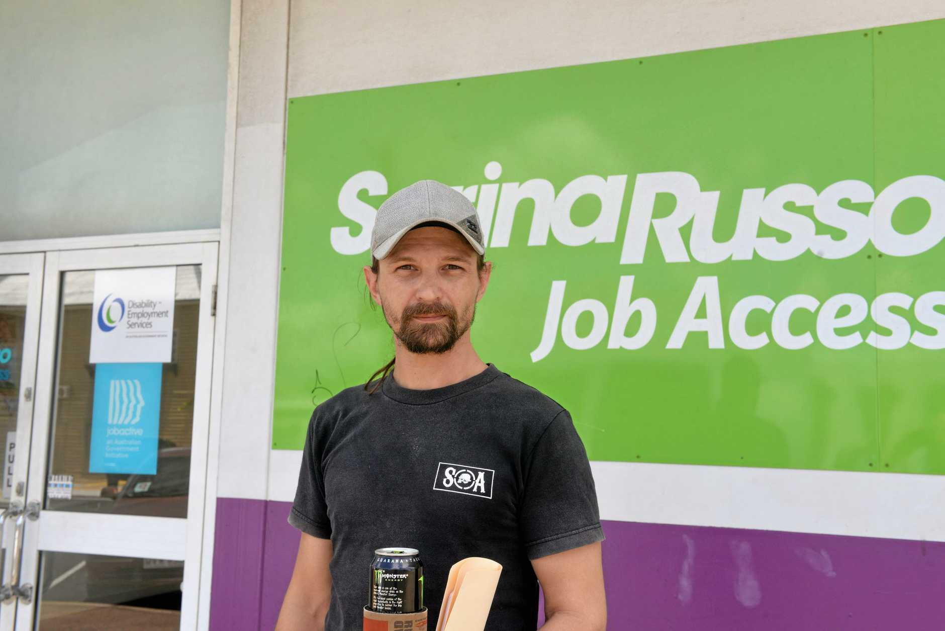 ON THE HUNT: Chris Stephens feels for young people trying to find a job in Bundaberg.