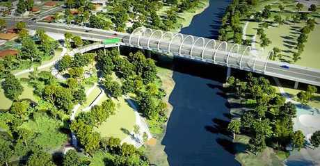 An artists impression of the proposed Norman Street Bridge. Photo: Contributed