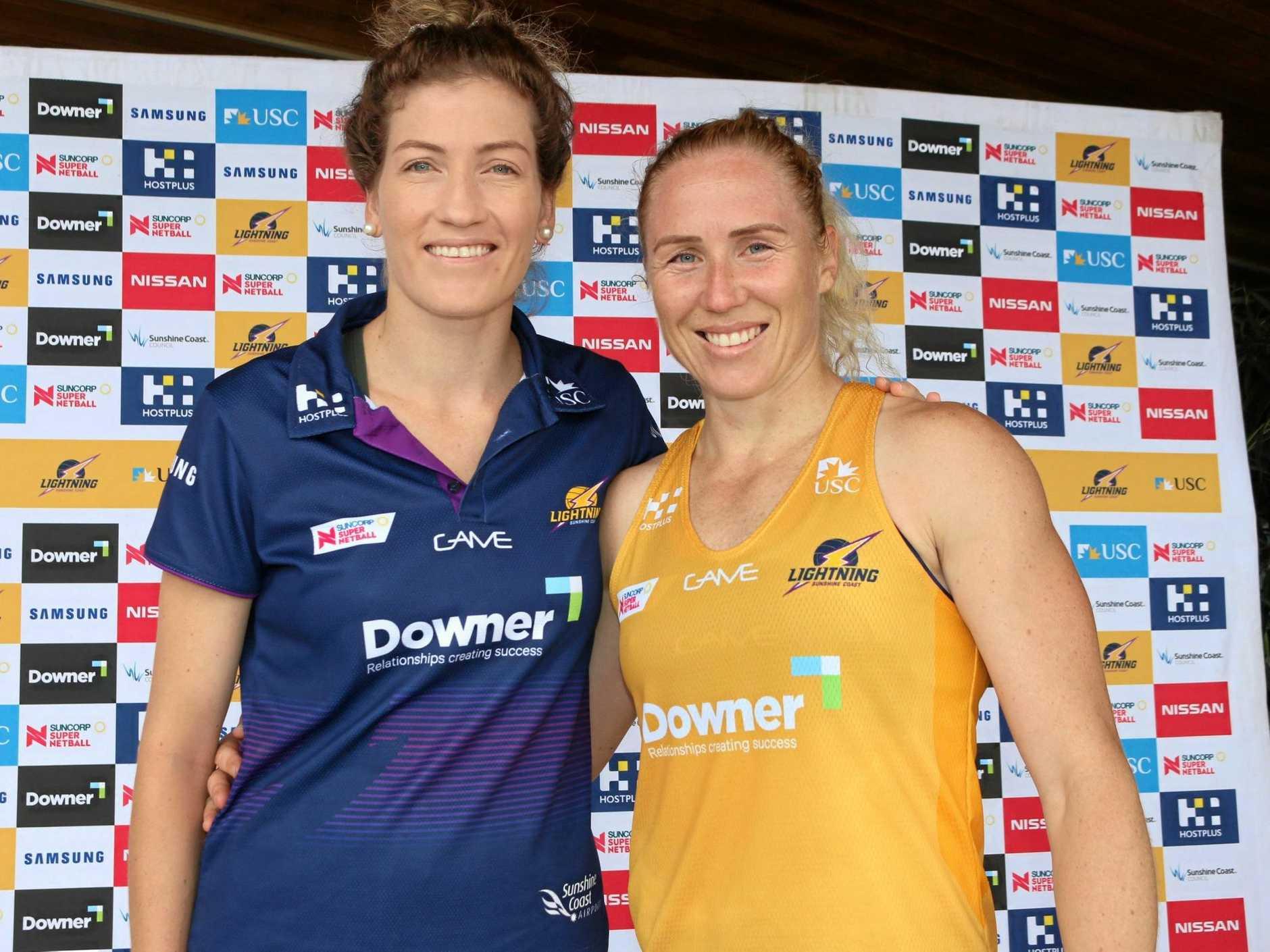 LEADERS: Sunshine Coast Lightning's vice-captain Karla Pretorius and captain Laura Langman.