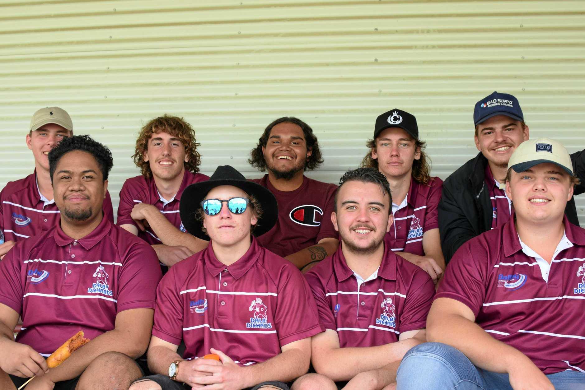 (Back) Blake Hunter, Corey Salter, Tyson Beezley, Brian Babington and James Heinrich. (Front) David Rongo, Tim Sheehan, Jake McCarthy and Noah Brady
