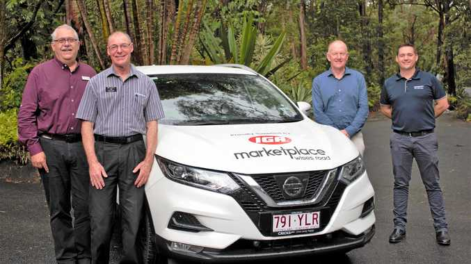 SPECIAL DELIVERY: On delivery day are (from left) Bloomhill Cancer Care CEO Chris Franck, Rob Cook, from IGA, Autopact Pty Ltd executive director and chairman Garry Crick, and Cricks Nissan Nambour dealer principal Dan Hunt.