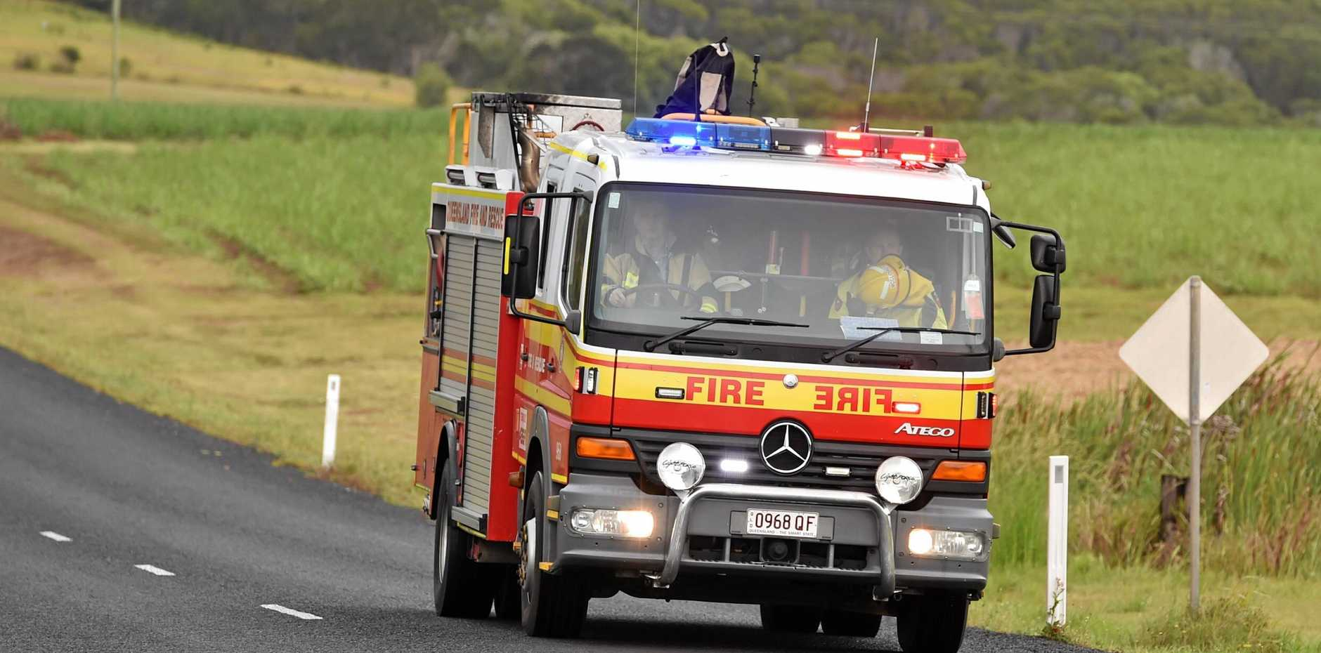 Queensland Fire and Rescue. Photo: Alistair Brightman / Fraser Coast Chronicle