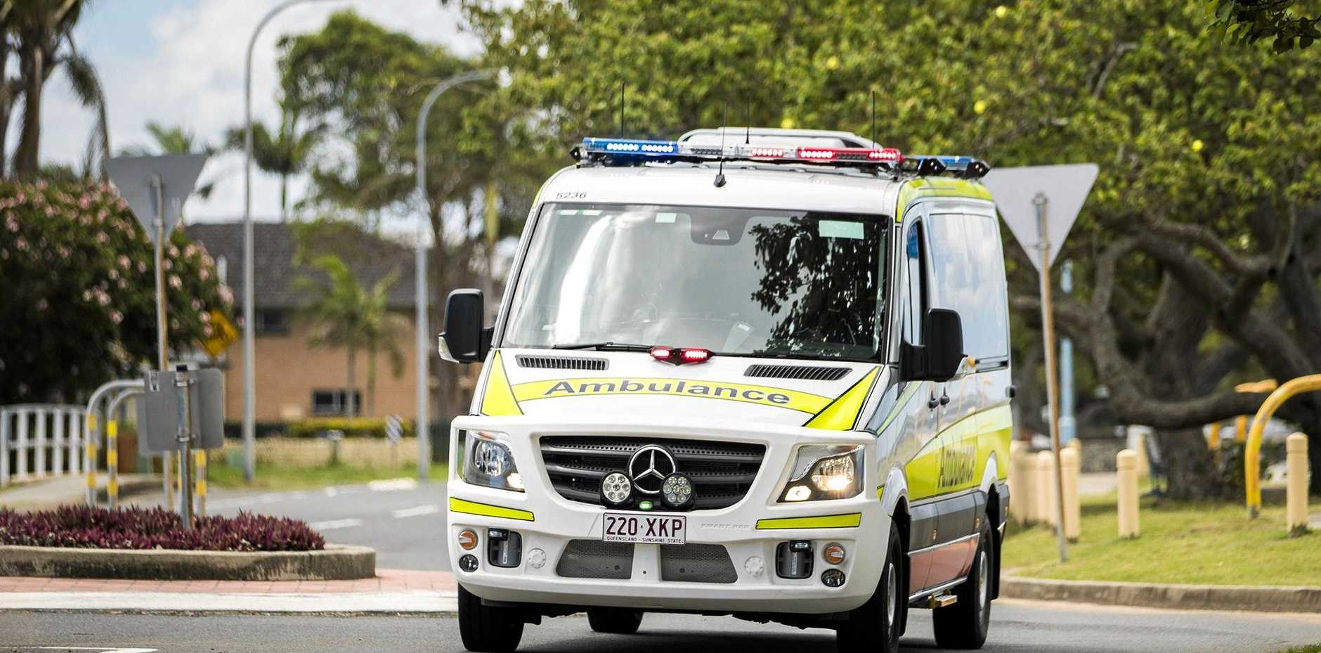 A woman in her 20s has sustained chest injuries in a motorbike crash on a Sunshine Coast hooning hotspot.