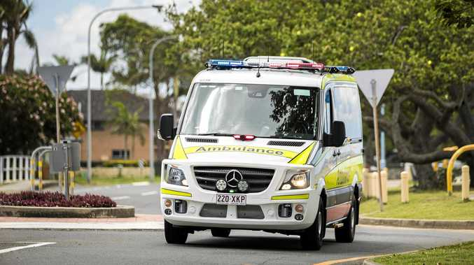 Two people were transported to Rockhampton Hospital following a two-vehicle crash this afternoon.