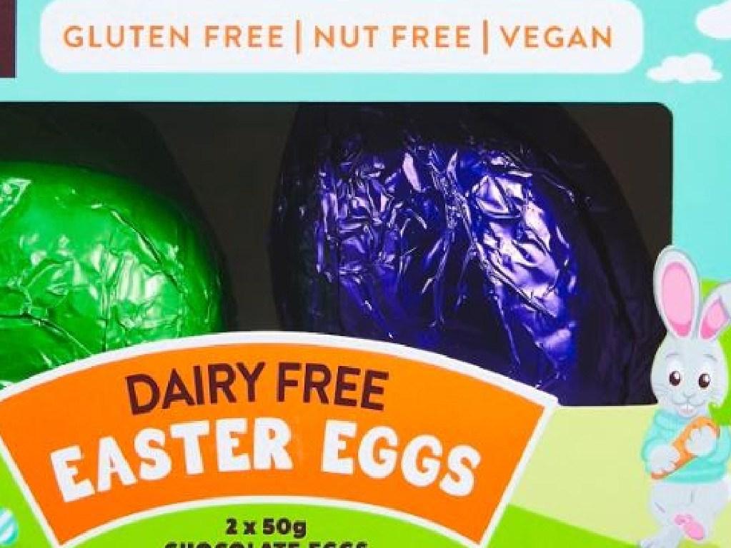ALDI is selling a range of vegan friendly Easter eggs. Picture: Supplied