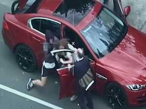WATCH: Insane video of carjacking captured by helicopter