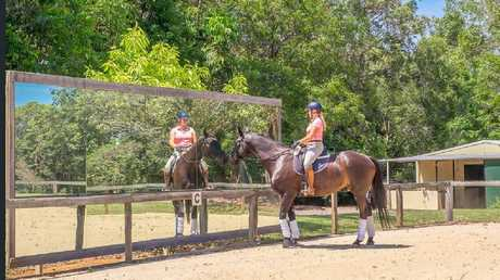 The 10ha 'blue chip' property that is on the for market for $1.25 million boasts an Olympic-sized dressage arena: Picture: Hinternoosa Real Estate