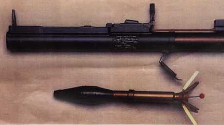 Ten rocket launchers were stolen by Shane Della-Vedova.