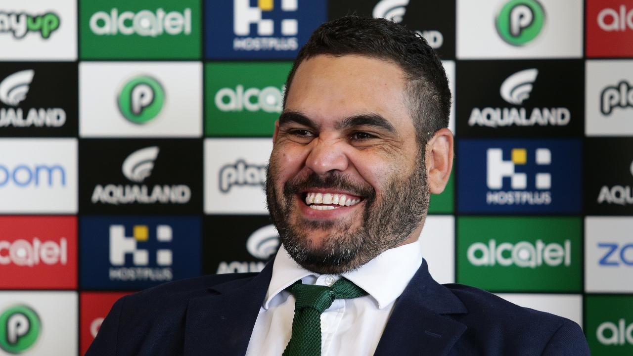 Inglis was all smiles at his press conference. Picture by Brett Costello.