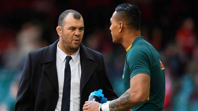 Michael Cheika labelled Folau's comments disrespectful. Picture: Getty