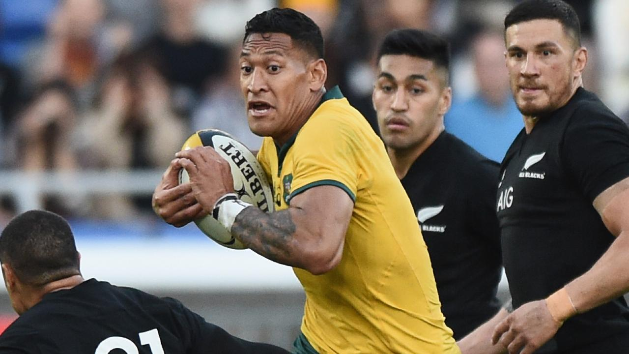 Rugby Australia says Israel Folau broke a promise not to post insenstitive material on social media. Picture: Getty Images