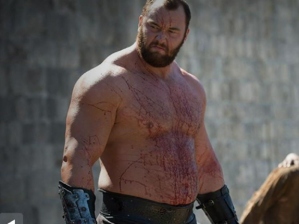 Gregor Clegane, better known as The Mountain.