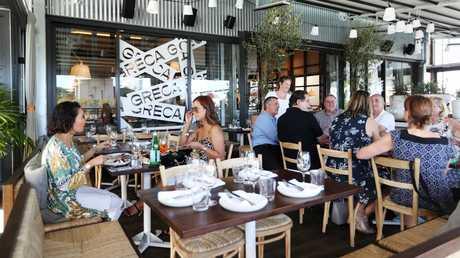 Greek restaurant Greca at Howard Smith Wharves. Picture: Tara Croser