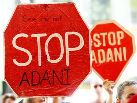 Anti-Adani protesters. Picture: Hollie Adams/The Australian