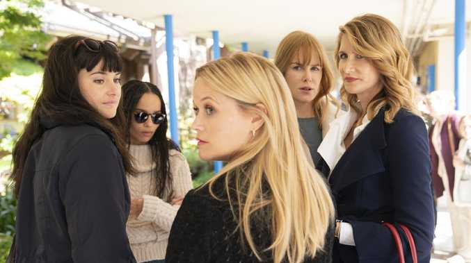 Big Little Lies season 2 image handout. Reese Witherspoon (centre) and Nicole Kidman (2nd from right) pictured.