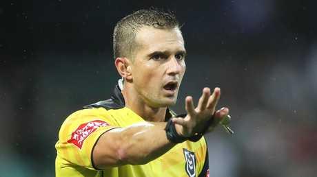 Referee Grant Atkins.