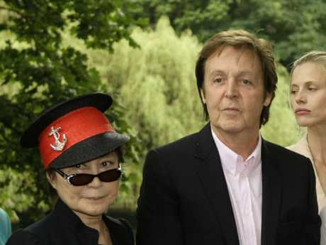 Paul McCartney, spoke about the Beatles' initial frostiness to Yoko Ono. Picture: AP