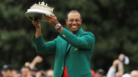 Tiger Woods after winning the Masters. Picture: Getty Images