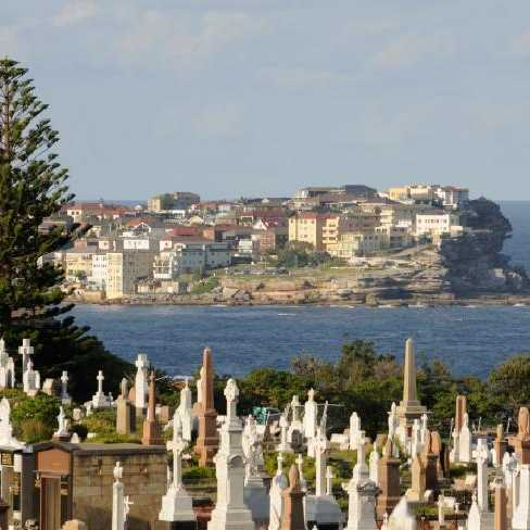 Waverley Cemetery is an iconic landmark in Sydney. Picture: ThinkStock