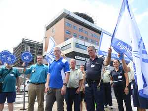 Hospital staff walk out on job over 'wage theft'