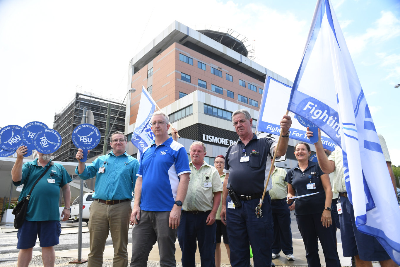 Lismore Base Hospital staff will walk out on the job this morning.