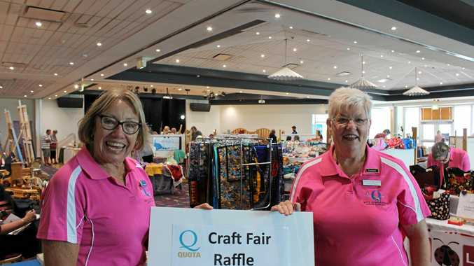 FANTASTIC DAY: Organisers Lynne White and Dianne Wilson at the Quota Art, Craft and Garden Fair in Yamba.