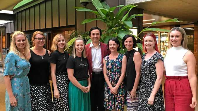 DANCE: Helena Little (second from left) was selected as one of eight Queensland Ballet ambassadors from around the country having the opportunity to work with Li Cunxin (centre) as part of a two-week intensive program.